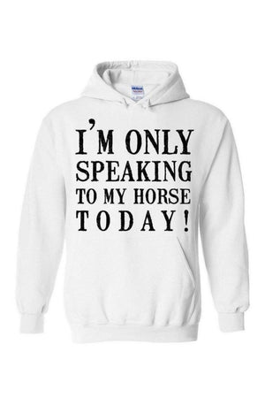 Only Speaking To My Horse- Long Sleeve-Long Sleeve-Teescape-White-S-Three Wild Horses