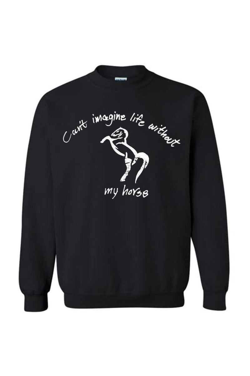 Can't Imagine My Life Without My horse - Long Sleeve-Long Sleeve-Teescape-SWEATSHIRT-Black-S-Three Wild Horses