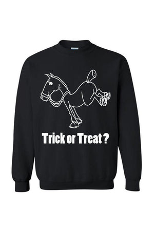 Trick Or Treat? - Long Sleeve-Long Sleeve-Teescape-Sweatshirt-Black-S-Three Wild Horses