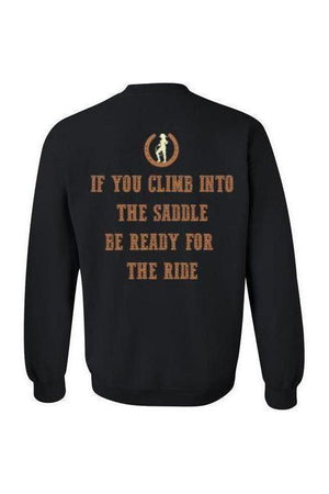 Never Stop Riding - Long Sleeve-Long Sleeve-Teescape-HODDIE-Black-S-Three Wild Horses
