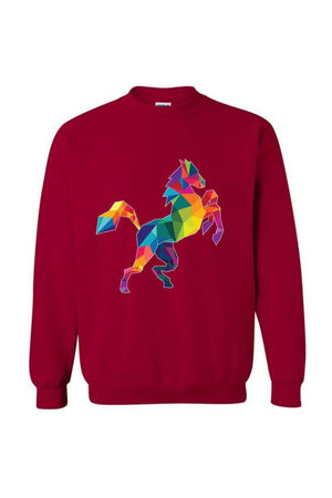 Horsing Around - Long Sleeve-Long Sleeve-Teescape-SWEATSHIRT-Cardinal Red-S-Three Wild Horses