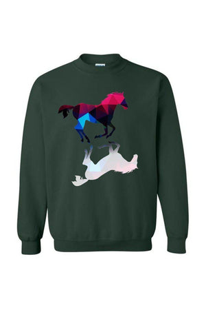 Foaling Around - Long Sleeve-Long Sleeve-Teescape-SWEATSHIRT-Forest Green-S-Three Wild Horses