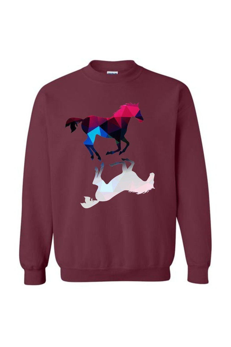 Foaling Around - Long Sleeve in Red
