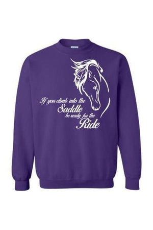 Horse Riding - Long Sleeve-Long Sleeve-Teescape-Sweatshirt-Purple-S-Three Wild Horses