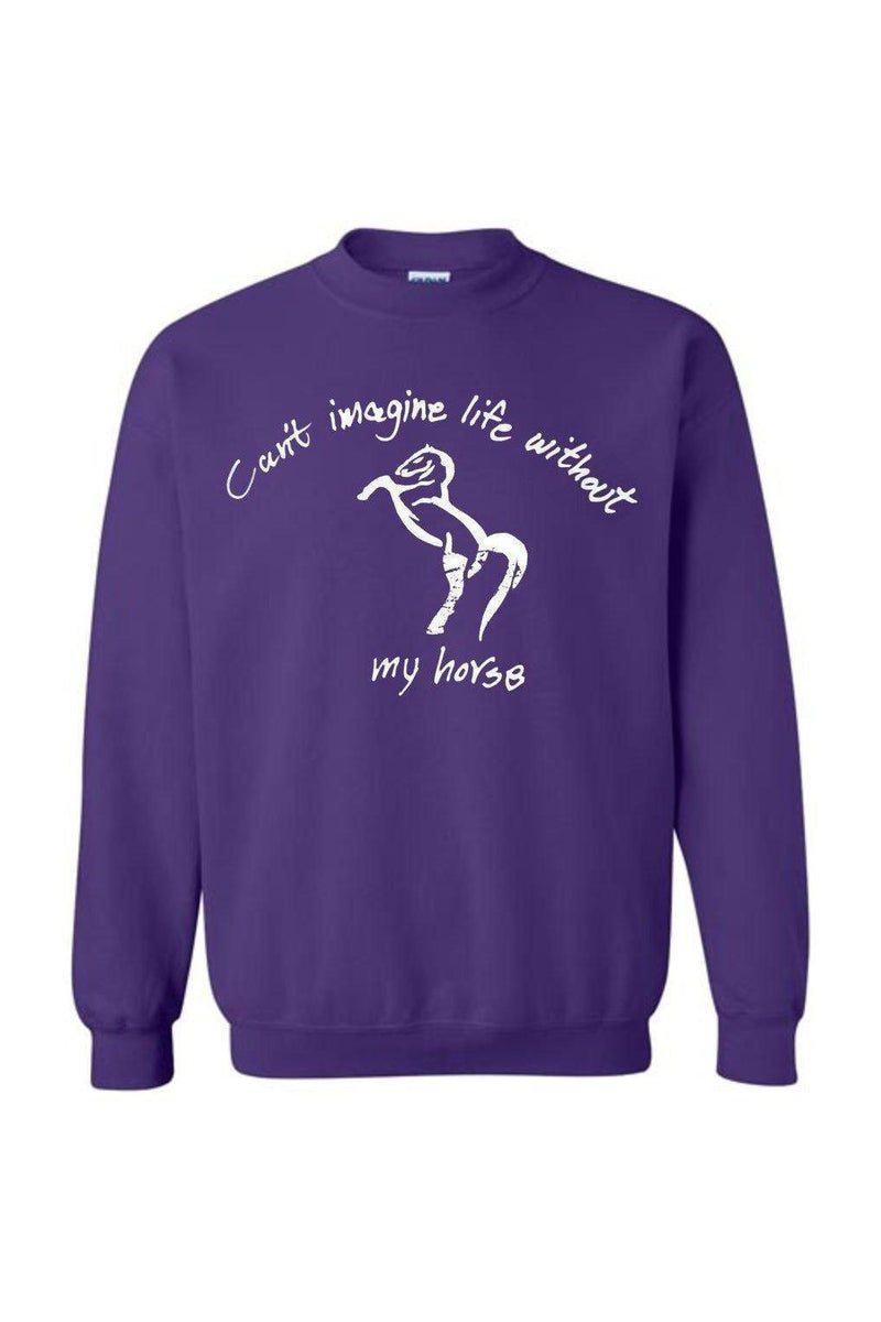 Can't Imagine My Life Without My horse - Long Sleeve-Long Sleeve-Teescape-SWEATSHIRT-Purple-S-Three Wild Horses