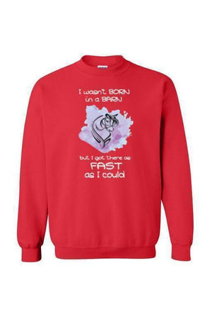 I Got There as Fast as I Could - Long Sleeve-Long Sleeve-Teescape-SWEATSHIRT-Red-S-Three Wild Horses