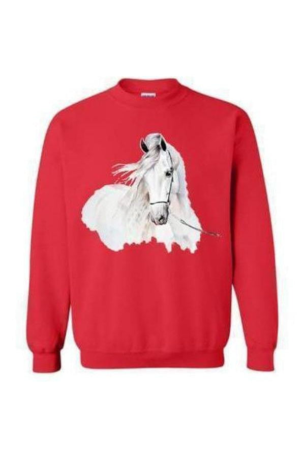 Day Dreaming - Long Sleeve-Long Sleeve-Teescape-SWEATSHIRT-Red-S-Three Wild Horses