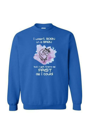 I Got There as Fast as I Could - Long Sleeve-Long Sleeve-Teescape-SWEATSHIRT-RoyalBlue-S-Three Wild Horses