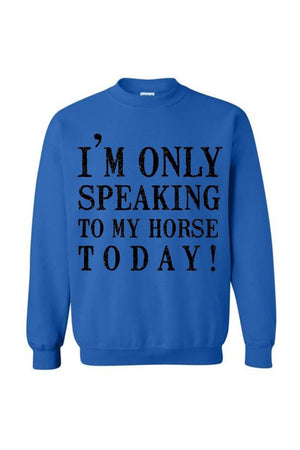 Only Speaking To My Horse- Long Sleeve-Long Sleeve-Teescape-Royal-S-Three Wild Horses