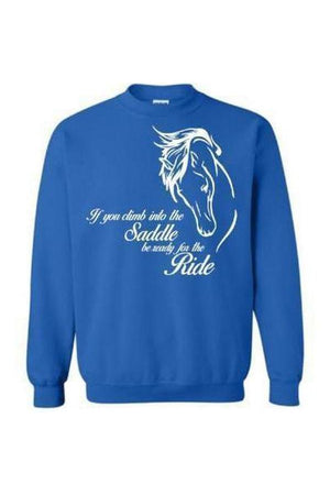 Horse Riding - Long Sleeve-Long Sleeve-Teescape-Sweatshirt-Royal Blue-S-Three Wild Horses