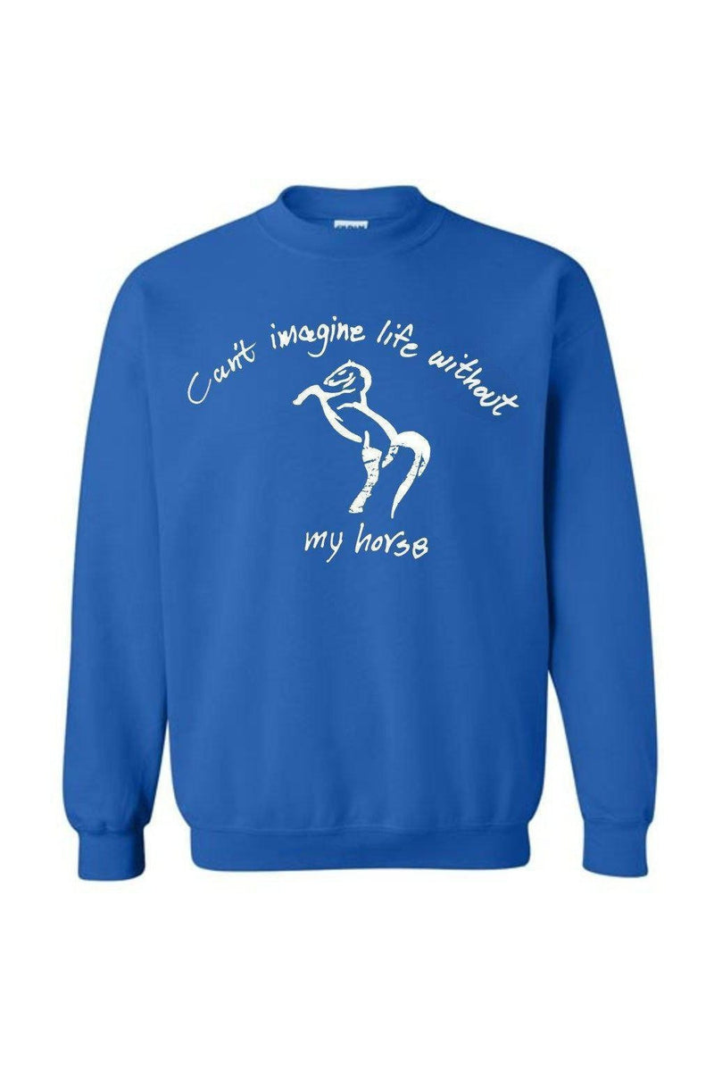 Can't Imagine My Life Without My horse - Long Sleeve-Long Sleeve-Teescape-SWEATSHIRT-Royal Blue-S-Three Wild Horses