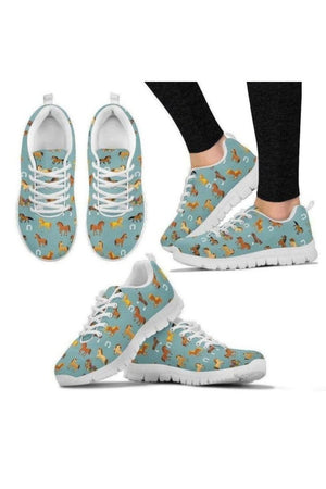 Multi-Color Horse Sneakers-Sneakers-Pillow Profits-Women's Sneakers-US5 (EU35)-Three Wild Horses