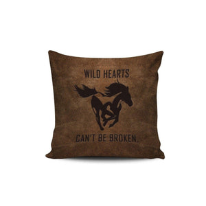 Premium Poly-Cotton Cushion Cover-Home Decor-Pillow Profits-Cushion Covers-Three Wild Horses