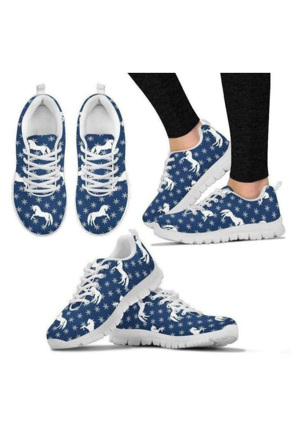 Snow Horse Sneakers-Sneakers-Pillow Profits-Women's Sneakers-US5 (EU35)-Three Wild Horses