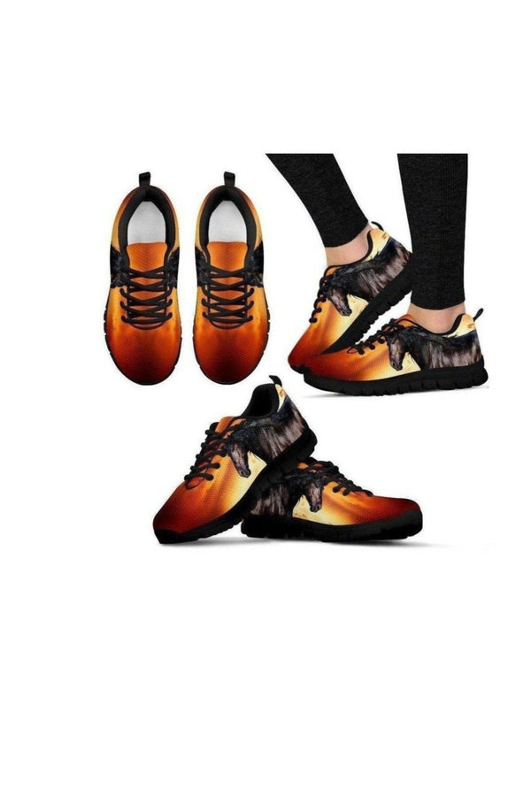 Black and Orange Horse Sneakers-Sneakers-Pillow Profits-US5 (EU35)-Three Wild Horses