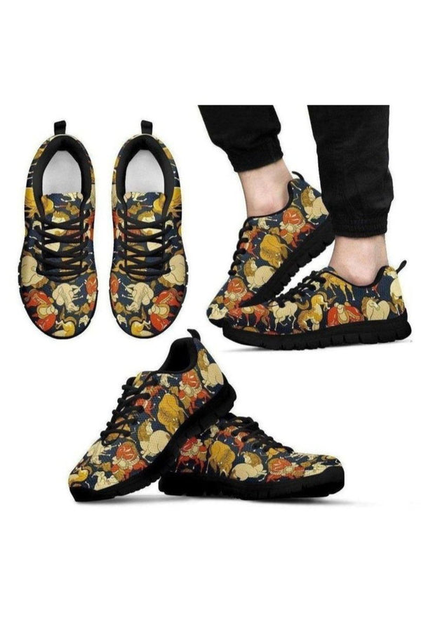 Horse Pattern Men's Sneakers-Sneakers-Pillow Profits-US5 (EU38)-Three Wild Horses