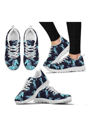 Light Blue Horse Sneakers-Sneakers-Pillow Profits-Women's Sneakers-US5 (EU35)-Three Wild Horses