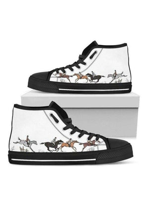 High Top Horse Image Shoes-Shoes-Pillow Profits-US5.5 (EU36)-Three Wild Horses