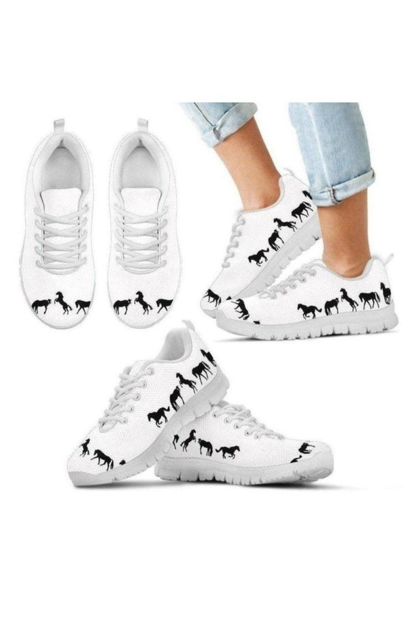 Horse Image Kid's Sneakers-Sneakers-Pillow Profits-Kid's Sneakers-11 CHILD (EU28)-Three Wild Horses