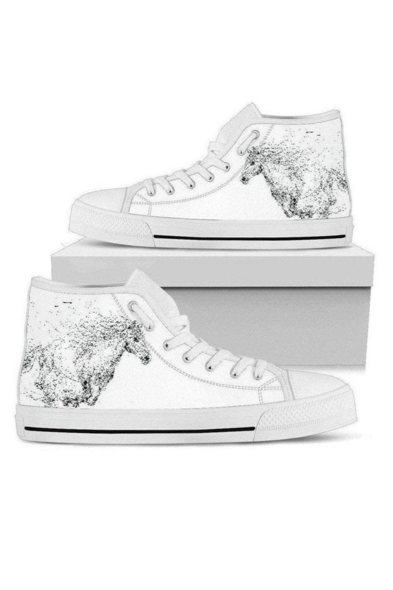 High Top Horse Image Shoes