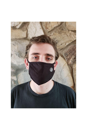 Face Mask Black with Circle Flag Detail