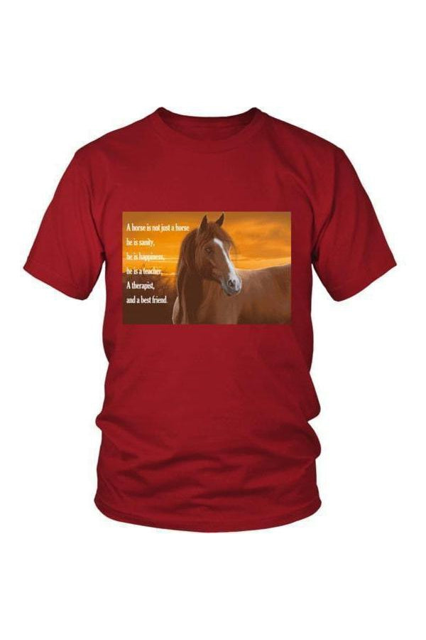 My Horse, My Friend - Tops-Tops-teelaunch-Unisex Tee-Red-S-Three Wild Horses