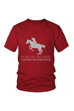 I Never Outgrew the Horse Phase - Tops-Tops-teelaunch-Unisex Tee-Red-S-Three Wild Horses
