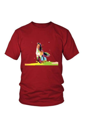 Running Around - Tops-Tops-teelaunch-Unisex Tee-Red-S-Three Wild Horses