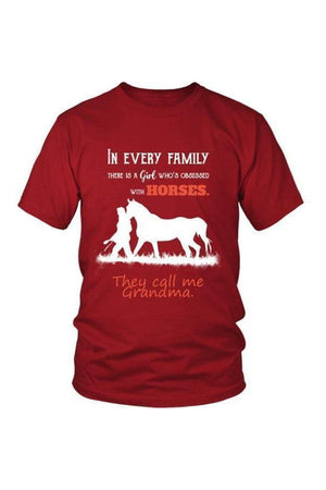 They Call Me Grandma - Tops-Tops-teelaunch-Unisex Tee-Red-S-Three Wild Horses