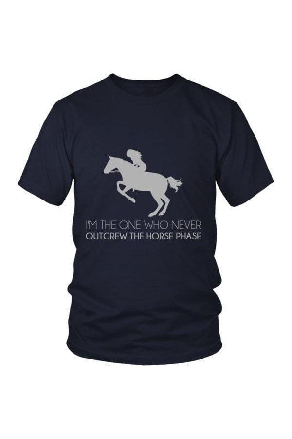 I Never Outgrew the Horse Phase - Tops-Tops-teelaunch-Unisex Tee-Navy-S-Three Wild Horses