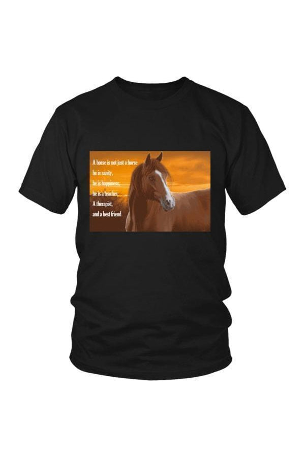 My Horse, My Friend - Tops-Tops-teelaunch-Unisex Tee-Black-S-Three Wild Horses
