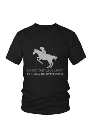 I Never Outgrew the Horse Phase - Tops-Tops-teelaunch-Unisex Tee-Black-S-Three Wild Horses