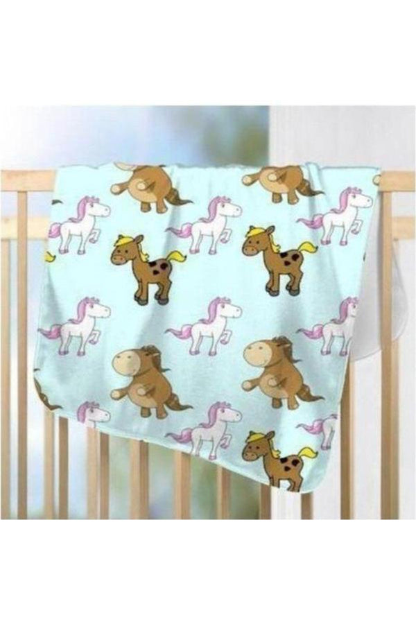 Party in Blue - Fleece Blanket-Blankets-teelaunch-Small-Three Wild Horses