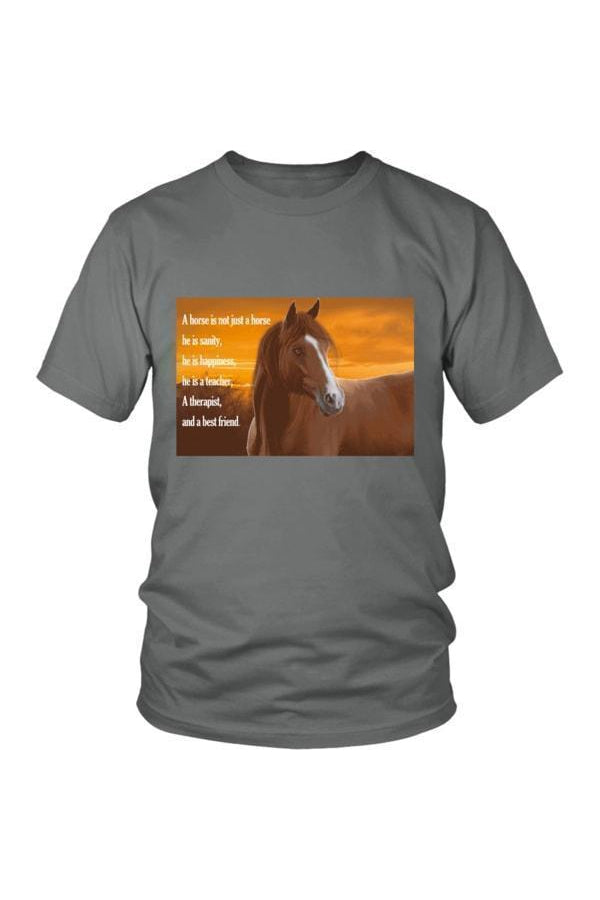 My Horse, My Friend - Tops-Tops-teelaunch-Unisex Tee-Grey-S-Three Wild Horses