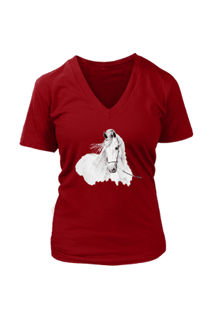 Day Dreaming - Tops-Tops-teelaunch-Womens V-Neck-Red-S-Three Wild Horses