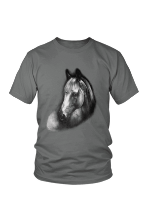 Horse Portrait - Tops-Tops-teelaunch-Unisex Tee-Grey-S-Three Wild Horses