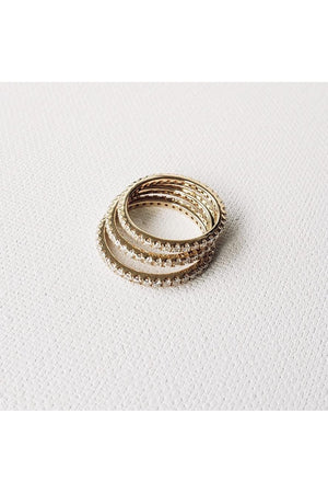 Tan Diamond Eternity Ring Slim band