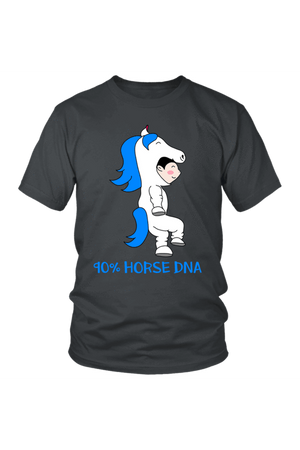 90% Horse DNA - Tops-Tops-teelaunch-Unisex Tee-Grey-S-Three Wild Horses