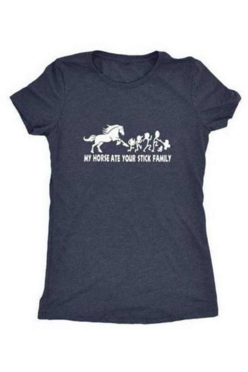 My Horse Ate Your Stick Family - T Shirt in Grey