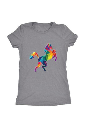 Horsing Around - Tops-Tops-teelaunch-Ladies Triblend-Grey-S-Three Wild Horses