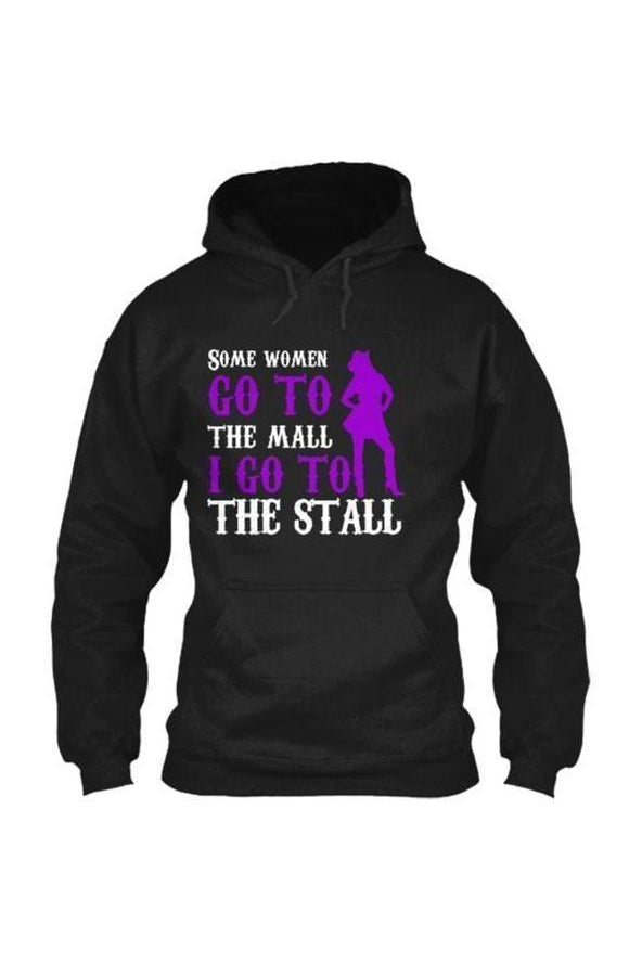 I Go To The Stall - Long Sleeve-Long Sleeve-Teescape-HOODIE-Black-S-Three Wild Horses