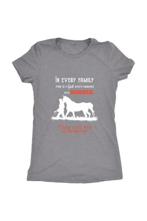 They Call Me Grandma - Tops-Tops-teelaunch-Ladies Triblend-Grey-S-Three Wild Horses
