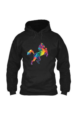 Horsing Around - Long Sleeve-Long Sleeve-Teescape-HOODIE-Black-S-Three Wild Horses