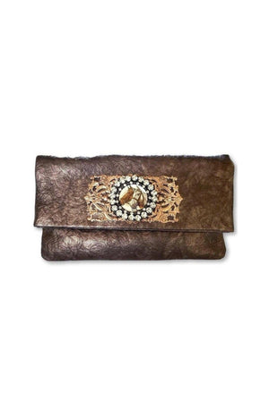 Leather Horse Clutch Handbag With Vintage Design-Bags-Three Wild Horses-Three Wild Horses