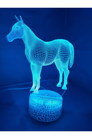 Dodger Blue 3D Classic Horse Nightlight changes to 7 colors -ON SALE!