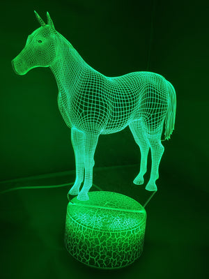 Sea Green 3D Classic Horse Nightlight changes to 7 colors -ON SALE!