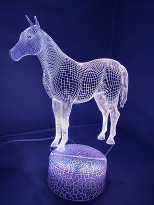 Slate Gray 3D Classic Horse Nightlight changes to 7 colors -ON SALE!