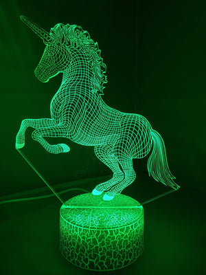 Sea Green 3D Unicorn Nightlight changes to 7 colors - ON SALE!