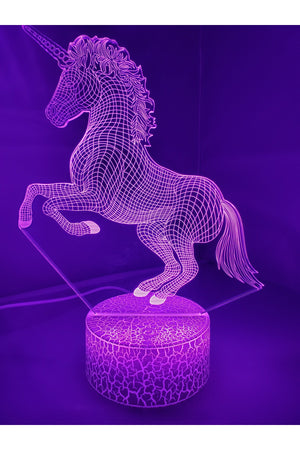 Dark Orchid 3D Unicorn Nightlight changes to 7 colors -ON SALE!