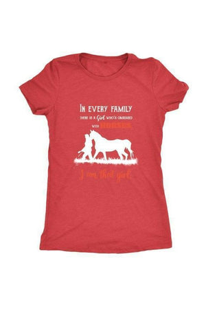 I Am That Girl - Tops-Tops-teelaunch-Ladies Triblend-Red-S-Three Wild Horses